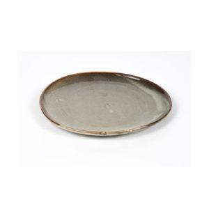 Assiette Cérès Gris 21 cm x 18,5 cm x H2cm