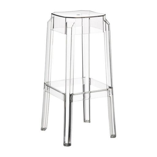 tabouret de bar transparent design