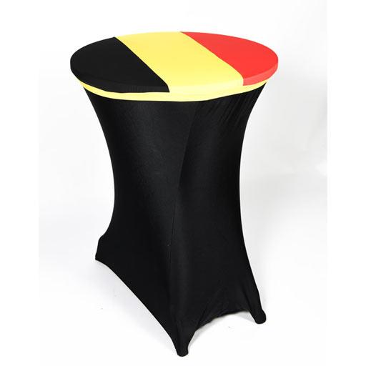 Cover pour table haute au couleur de la Belgique