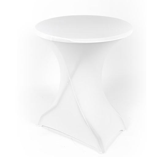 Table haute + nappe streche noir/bleu/Bordeaux/blanc