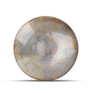 Plat décoratif 33xH6cm verre argenté Cosmo