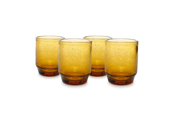 Verre 34cl empilable amber Drip - set/4