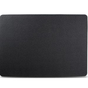Set de table 43x30cm cuir rect. noir TableTop