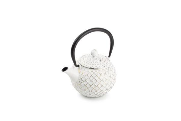 Théière de service 0,5L fonte or sur blanc My Tea
