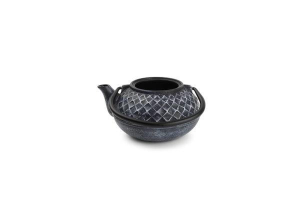 Théière de service 0,5L fonte blanc sur noir My Tea