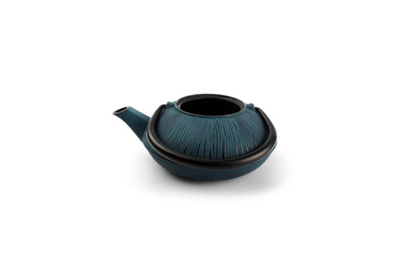 Théière de service 50cl fonte+filtre black on blue