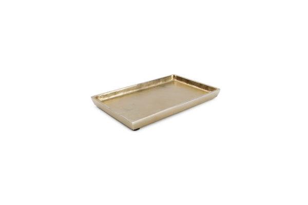 Plat décoratif 22 cm x 14 cm or Charm