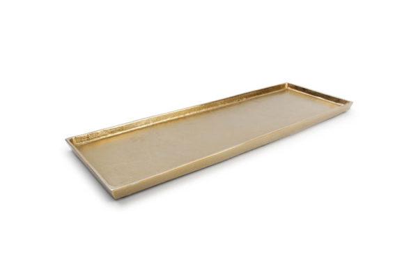 Plat décoratif 48,5 cm x 16 cm or Charm