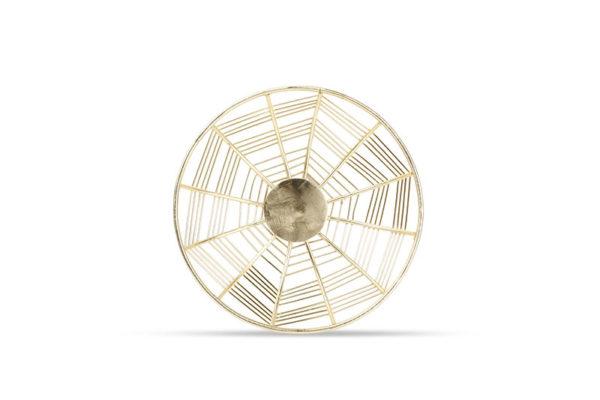 Panier métallique 22xH5cm rond doré Mazy