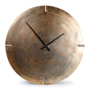 Horloge murale 74cm rond métal couleur cuivre Zone