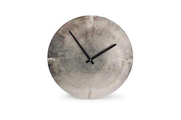 Horloge murale 38cm rond métal coul. argentée Zone