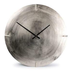 Horloge murale 74cm rond métal coul. argentée Zone