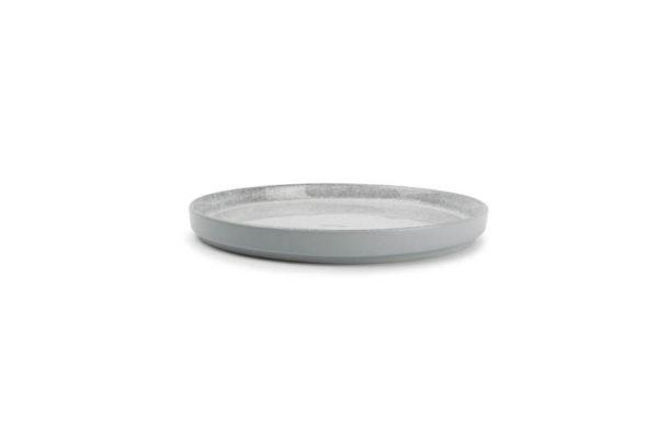 Assiette plate 20,5 cm gris Lava