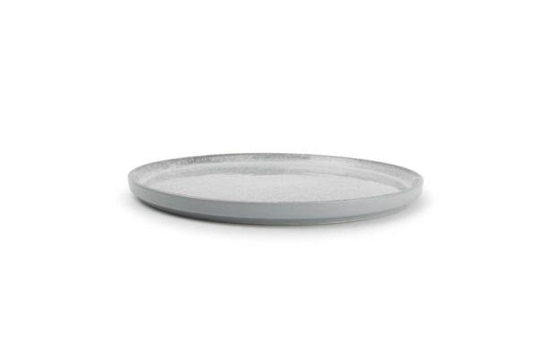 Assiette plate 25 cm gris Lava
