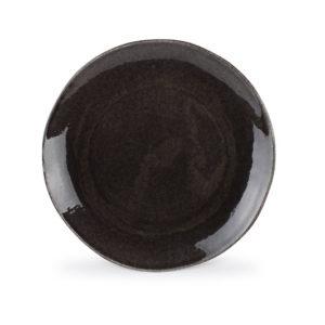Assiette plate 26.5cm noir coupe Artisan