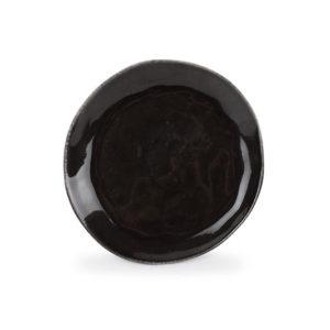 Assiette plate 20cm noir coupe Artisan