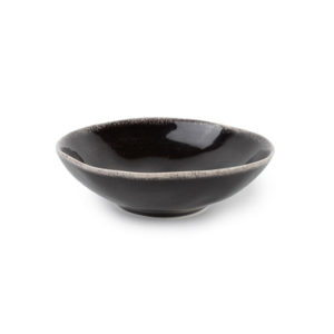 Bol 12xH3.5cm noir Artisan