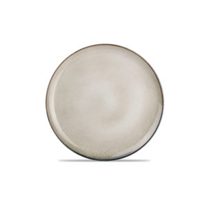 Assiette plate 26cm gris/vert Meridian