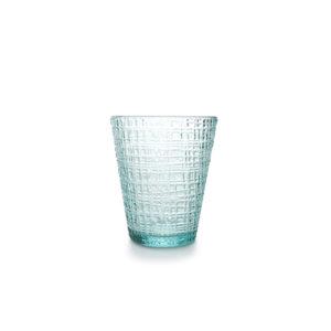 Verre 0,26L set/4 conique bleu/vert Fabric