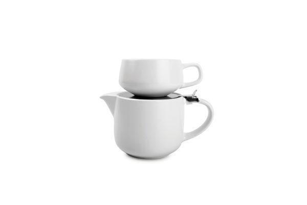 Théière 0,6L filtre+tasse 0,26L T4M whitesp.Anders
