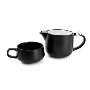 Théière 0,6L filtre+tasse 0,26L T4M blacksp.Anders