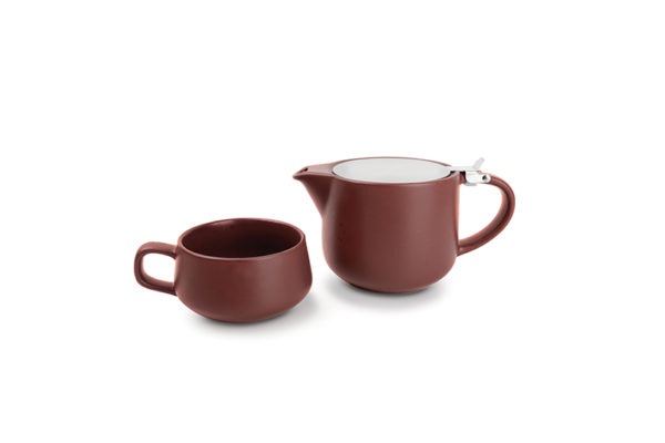 Théière 0,6L filtre+tasse 0,26L T4M brownsp.Anders
