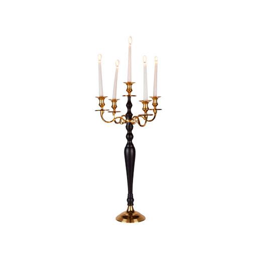 chandelier 5 B aluminium H 78 cm noir-or