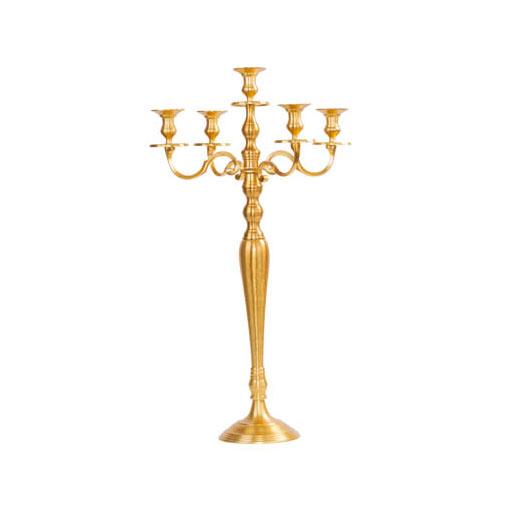 chandelier mat doré H 78 cm