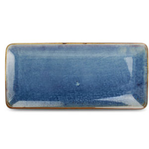 plat Nova bleu 16 x 35,5 cm