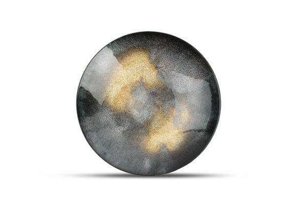 plat décoratif 33 x H 6 cm noir Cosmo