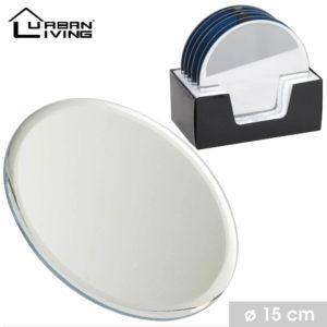 dessous de bougie miroir diam 15 cm