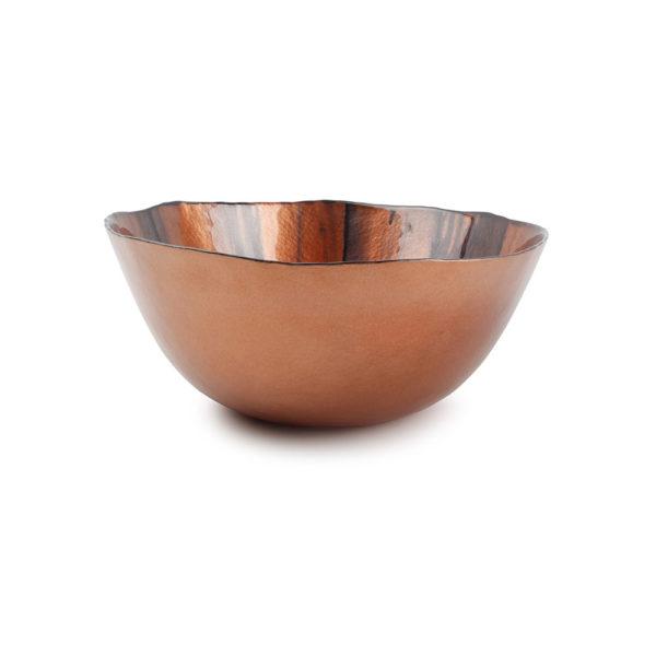 plat décoratif rouge/bronze Guna 28 x H 12 cm