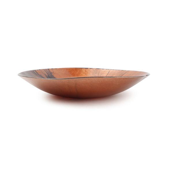 plat décoratif rouge/bronze Guna 30 x H 5 cm
