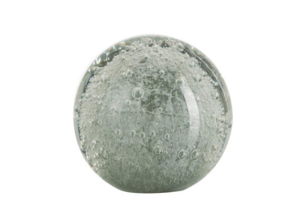 Presse papier bulle verre gris/argenté