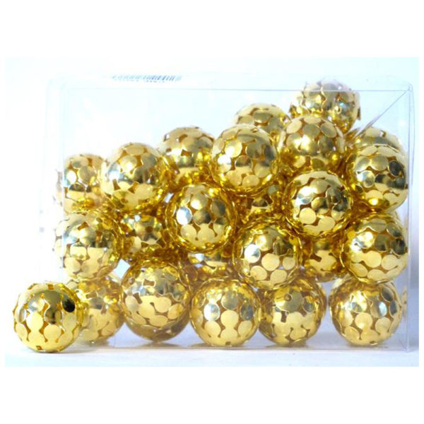 boules noel dorées