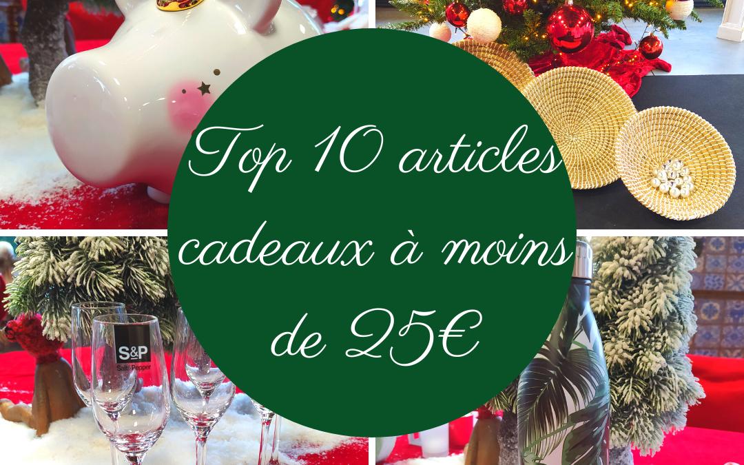 TOP10 cadeaux à moins de 25€